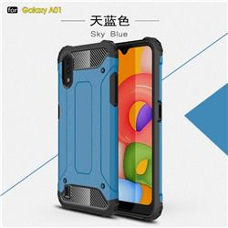 King Kong Armor Premium Shockproof Dual Layer Rugged Hard Cover for Samsung Galaxy A01 - Sky Blue
