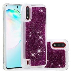 Dynamic Liquid Glitter Quicksand Sequins TPU Phone Case for Samsung Galaxy A01 - Purple