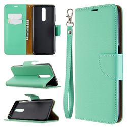 Classic Luxury Litchi Leather Phone Wallet Case for Samsung Galaxy A01 - Green