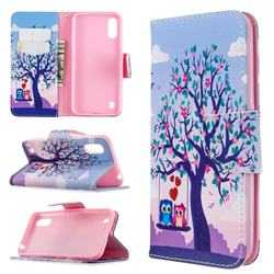 Tree and Owls Leather Wallet Case for Samsung Galaxy A01