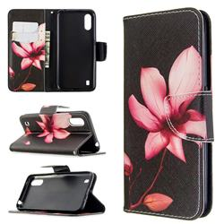 Lotus Flower Leather Wallet Case for Samsung Galaxy A01