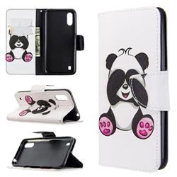 Lovely Panda Leather Wallet Case for Samsung Galaxy A01