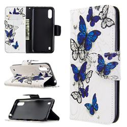Flying Butterflies Leather Wallet Case for Samsung Galaxy A01