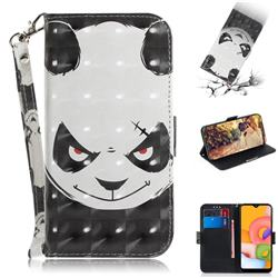 Angry Bear 3D Painted Leather Wallet Phone Case for Samsung Galaxy A01