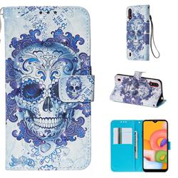 Cloud Kito 3D Painted Leather Wallet Case for Samsung Galaxy A01