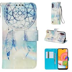 Fantasy Campanula 3D Painted Leather Wallet Case for Samsung Galaxy A01
