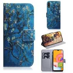 Apricot Tree PU Leather Wallet Case for Samsung Galaxy A01