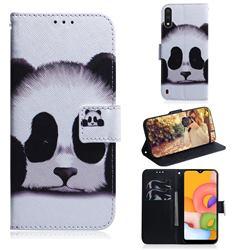 Sleeping Panda PU Leather Wallet Case for Samsung Galaxy A01