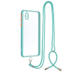 Necklace Cross-body Lanyard Strap Cord Phone Case Cover for Samsung Galaxy A01 Core - Blue