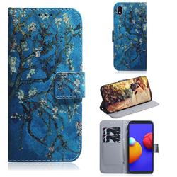 Apricot Tree PU Leather Wallet Case for Samsung Galaxy A01 Core