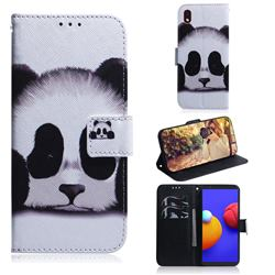 Sleeping Panda PU Leather Wallet Case for Samsung Galaxy A01 Core