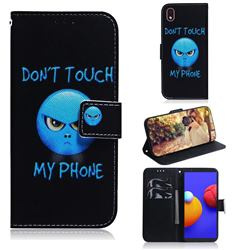 Not Touch My Phone PU Leather Wallet Case for Samsung Galaxy A01 Core