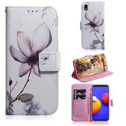 Magnolia Flower PU Leather Wallet Case for Samsung Galaxy A01 Core
