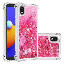 Dynamic Liquid Glitter Sand Quicksand TPU Case for Samsung Galaxy A01 Core - Pink Love Heart