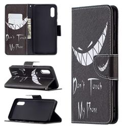 Crooked Grin Leather Wallet Case for Samsung Galaxy A02