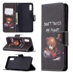 Chainsaw Bear Leather Wallet Case for Samsung Galaxy A02