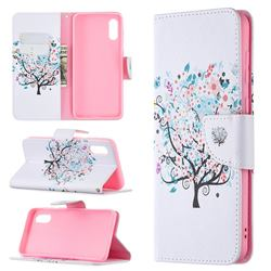 Colorful Tree Leather Wallet Case for Samsung Galaxy A02