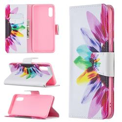 Seven-color Flowers Leather Wallet Case for Samsung Galaxy A02