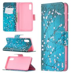 Blue Plum Leather Wallet Case for Samsung Galaxy A02