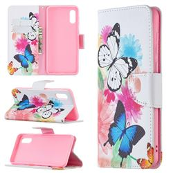Vivid Flying Butterflies Leather Wallet Case for Samsung Galaxy A02