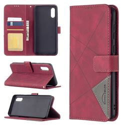 Binfen Color BF05 Prismatic Slim Wallet Flip Cover for Samsung Galaxy A02 - Red
