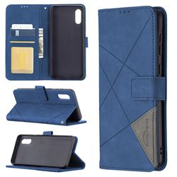 Binfen Color BF05 Prismatic Slim Wallet Flip Cover for Samsung Galaxy A02 - Blue