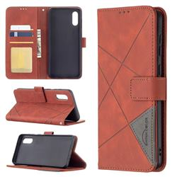 Binfen Color BF05 Prismatic Slim Wallet Flip Cover for Samsung Galaxy A02 - Brown