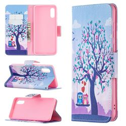 Tree and Owls Leather Wallet Case for Samsung Galaxy A02