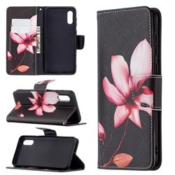 Lotus Flower Leather Wallet Case for Samsung Galaxy A02