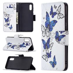 Flying Butterflies Leather Wallet Case for Samsung Galaxy A02