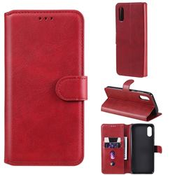 Retro Calf Matte Leather Wallet Phone Case for Samsung Galaxy A02 - Red