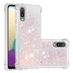 Dynamic Liquid Glitter Sand Quicksand TPU Case for Samsung Galaxy A02 - Silver Powder Star