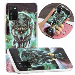 Wolf King Noctilucent Soft TPU Back Cover for Samsung Galaxy A02s