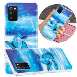 Flying Butterflies Noctilucent Soft TPU Back Cover for Samsung Galaxy A02s
