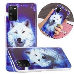 Galaxy Wolf Noctilucent Soft TPU Back Cover for Samsung Galaxy A02s