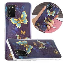 Golden Butterflies Noctilucent Soft TPU Back Cover for Samsung Galaxy A02s