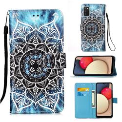 Underwater Mandala Matte Leather Wallet Phone Case for Samsung Galaxy A02s