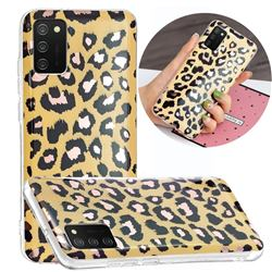 Leopard Galvanized Rose Gold Marble Phone Back Cover for Samsung Galaxy A02s