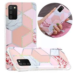 Pink Marble Painted Galvanized Electroplating Soft Phone Case Cover for Samsung Galaxy A02s