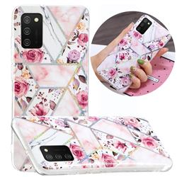 Rose Flower Painted Galvanized Electroplating Soft Phone Case Cover for Samsung Galaxy A02s