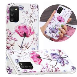 Magnolia Painted Galvanized Electroplating Soft Phone Case Cover for Samsung Galaxy A02s