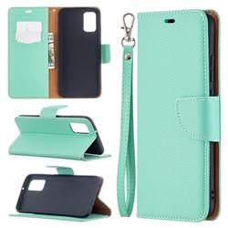 Classic Luxury Litchi Leather Phone Wallet Case for Samsung Galaxy A02s - Green