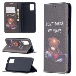 Chainsaw Bear Slim Magnetic Attraction Wallet Flip Cover for Samsung Galaxy A02s