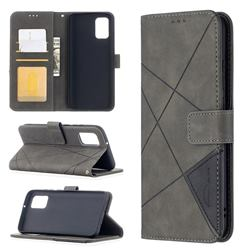 Binfen Color BF05 Prismatic Slim Wallet Flip Cover for Samsung Galaxy A02s - Gray