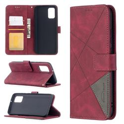 Binfen Color BF05 Prismatic Slim Wallet Flip Cover for Samsung Galaxy A02s - Red