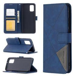 Binfen Color BF05 Prismatic Slim Wallet Flip Cover for Samsung Galaxy A02s - Blue