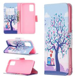 Tree and Owls Leather Wallet Case for Samsung Galaxy A02s