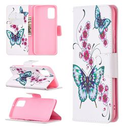 Peach Butterflies Leather Wallet Case for Samsung Galaxy A02s