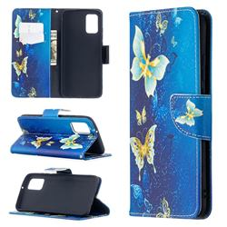 Golden Butterflies Leather Wallet Case for Samsung Galaxy A02s