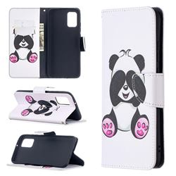 Lovely Panda Leather Wallet Case for Samsung Galaxy A02s